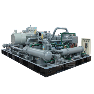 Raw gas compressor